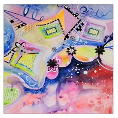 Patterns Colorful Drawing  Large Satin Scarf (square)