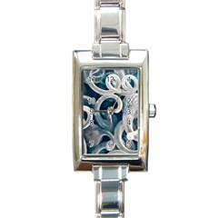 Spiral Glass Abstract  Rectangle Italian Charm Watch