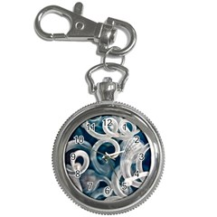 Spiral Glass Abstract  Key Chain Watches