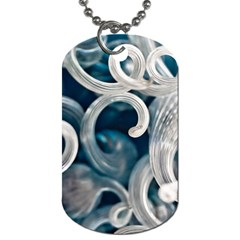 Spiral Glass Abstract  Dog Tag (one Side)