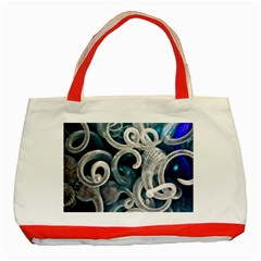 Spiral Glass Abstract  Classic Tote Bag (red)