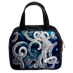 Spiral Glass Abstract  Classic Handbags (2 Sides)