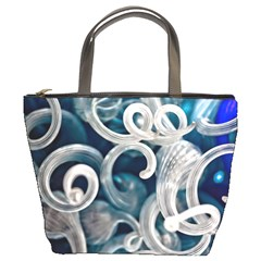 Spiral Glass Abstract  Bucket Bags