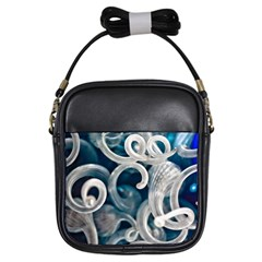 Spiral Glass Abstract  Girls Sling Bags