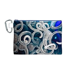 Spiral Glass Abstract  Canvas Cosmetic Bag (m)