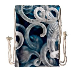 Spiral Glass Abstract  Drawstring Bag (large)