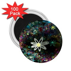 Flowers Fractal Bright 3840x2400 2 25  Magnets (100 Pack)