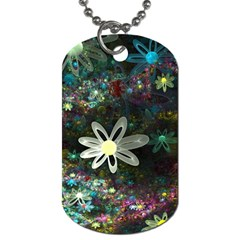 Flowers Fractal Bright 3840x2400 Dog Tag (two Sides)