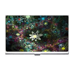 Flowers Fractal Bright 3840x2400 Business Card Holders