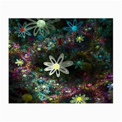 Flowers Fractal Bright 3840x2400 Small Glasses Cloth