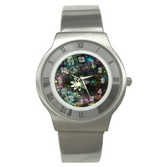 Flowers Fractal Bright 3840x2400 Stainless Steel Watch