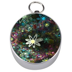 Flowers Fractal Bright 3840x2400 Silver Compasses
