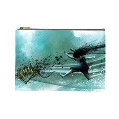 Running Abstraction Drawing  Cosmetic Bag (large)