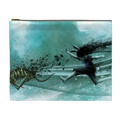 Running Abstraction Drawing  Cosmetic Bag (xl)