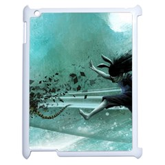 Running Abstraction Drawing  Apple Ipad 2 Case (white)