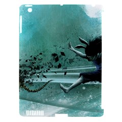 Running Abstraction Drawing  Apple Ipad 3/4 Hardshell Case (compatible With Smart Cover)