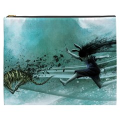 Running Abstraction Drawing  Cosmetic Bag (xxxl)