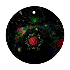 Shapes Circles Flowers  Ornament (round)