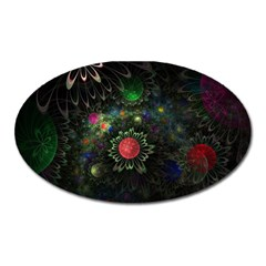 Shapes Circles Flowers  Oval Magnet