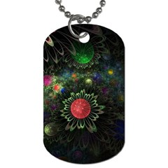 Shapes Circles Flowers  Dog Tag (one Side)