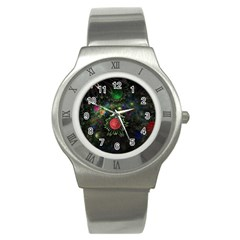 Shapes Circles Flowers  Stainless Steel Watch