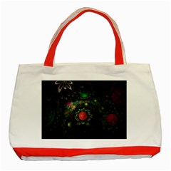 Shapes Circles Flowers  Classic Tote Bag (red)