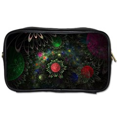 Shapes Circles Flowers  Toiletries Bags 2 Side