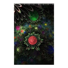 Shapes Circles Flowers  Shower Curtain 48  X 72  (small)