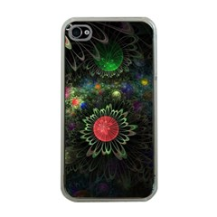 Shapes Circles Flowers  Apple Iphone 4 Case (clear)