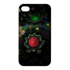 Shapes Circles Flowers  Apple Iphone 4/4s Premium Hardshell Case