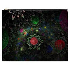 Shapes Circles Flowers  Cosmetic Bag (xxxl)