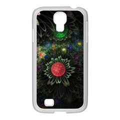 Shapes Circles Flowers  Samsung Galaxy S4 I9500/ I9505 Case (white)