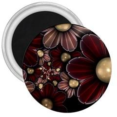 Flower Background Line 3  Magnets