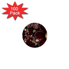 Flower Background Line 1  Mini Buttons (100 Pack)