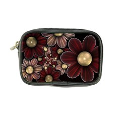 Flower Background Line Coin Purse