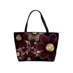 Flower Background Line Shoulder Handbags