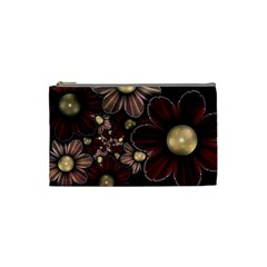 Flower Background Line Cosmetic Bag (small)