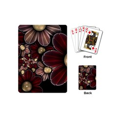 Flower Background Line Playing Cards (mini)