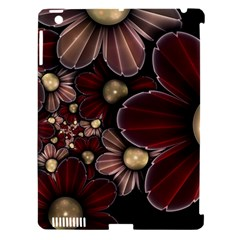 Flower Background Line Apple Ipad 3/4 Hardshell Case (compatible With Smart Cover)