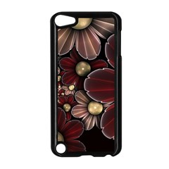 Flower Background Line Apple Ipod Touch 5 Case (black)