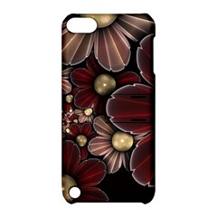 Flower Background Line Apple Ipod Touch 5 Hardshell Case With Stand