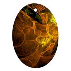 Spot Background Dark  Oval Ornament (two Sides)