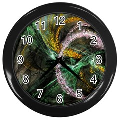 Connection Background Line Wall Clocks (black)