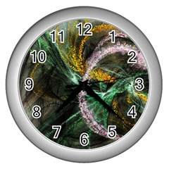 Connection Background Line Wall Clocks (silver)