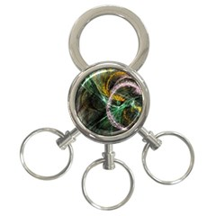 Connection Background Line 3 Ring Key Chains