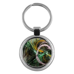 Connection Background Line Key Chains (round)