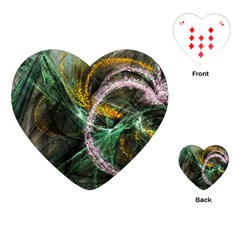 Connection Background Line Playing Cards (heart)