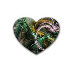 Connection Background Line Heart Coaster (4 Pack)