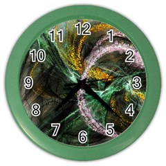 Connection Background Line Color Wall Clocks