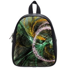 Connection Background Line School Bag (small)